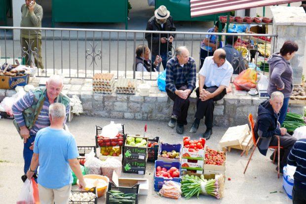 Bauernmarkt In Stari Bar