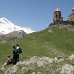 Wanderreise Georgien Dreifaltigkeitskirche bei Kasbegi
