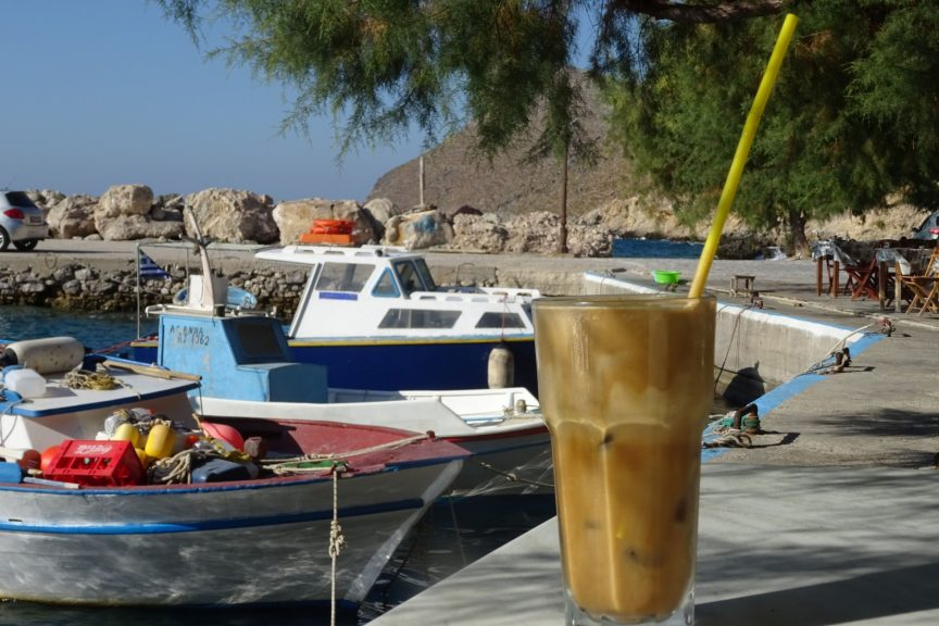 Frappe im Strandcafe
