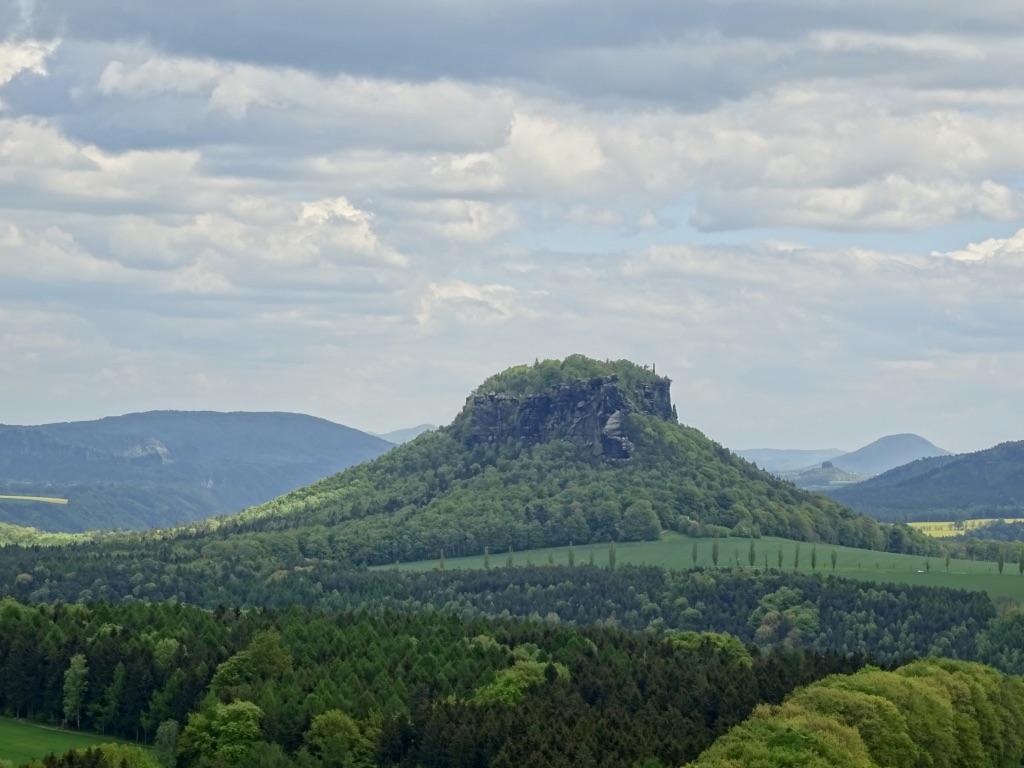 Der Lilienstein Auf Der Wanderreise Elbsandsteingebirge