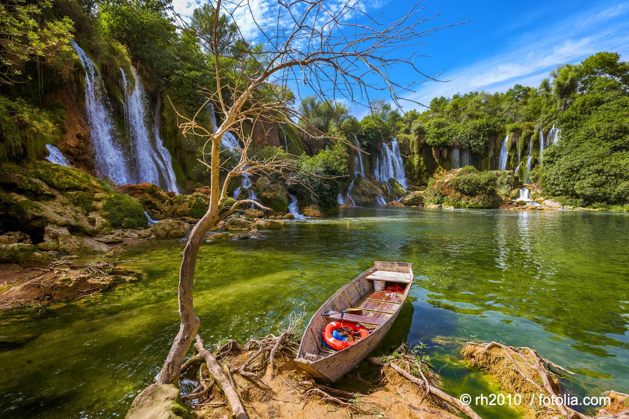 Kravica Wasserfall In Der Herzegowina