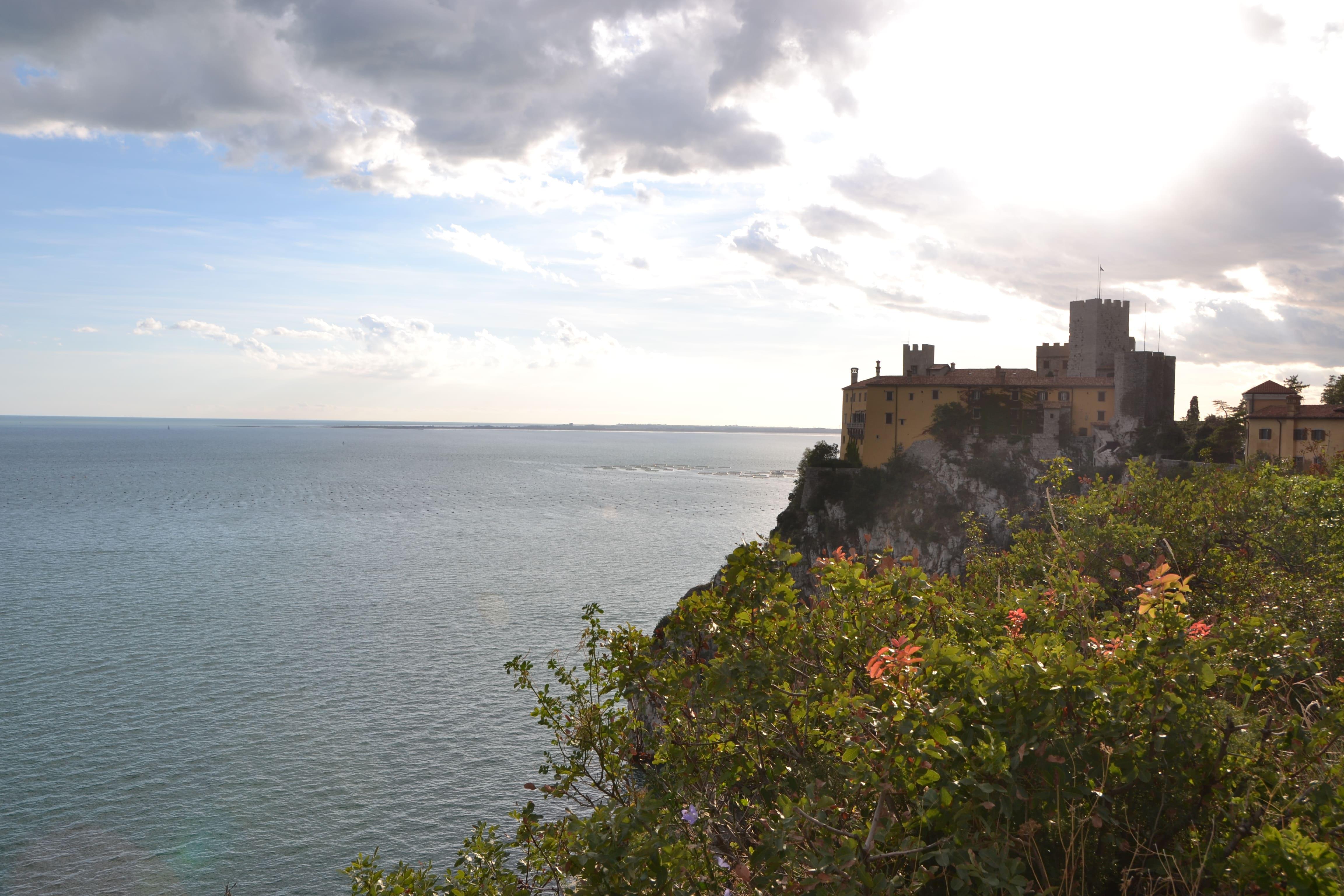 Schloss Duino Nördlich Von Triest Beginn Des Rilke Weges