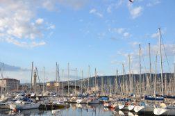 geführte Wanderreise Triest Segelboote im Hafen