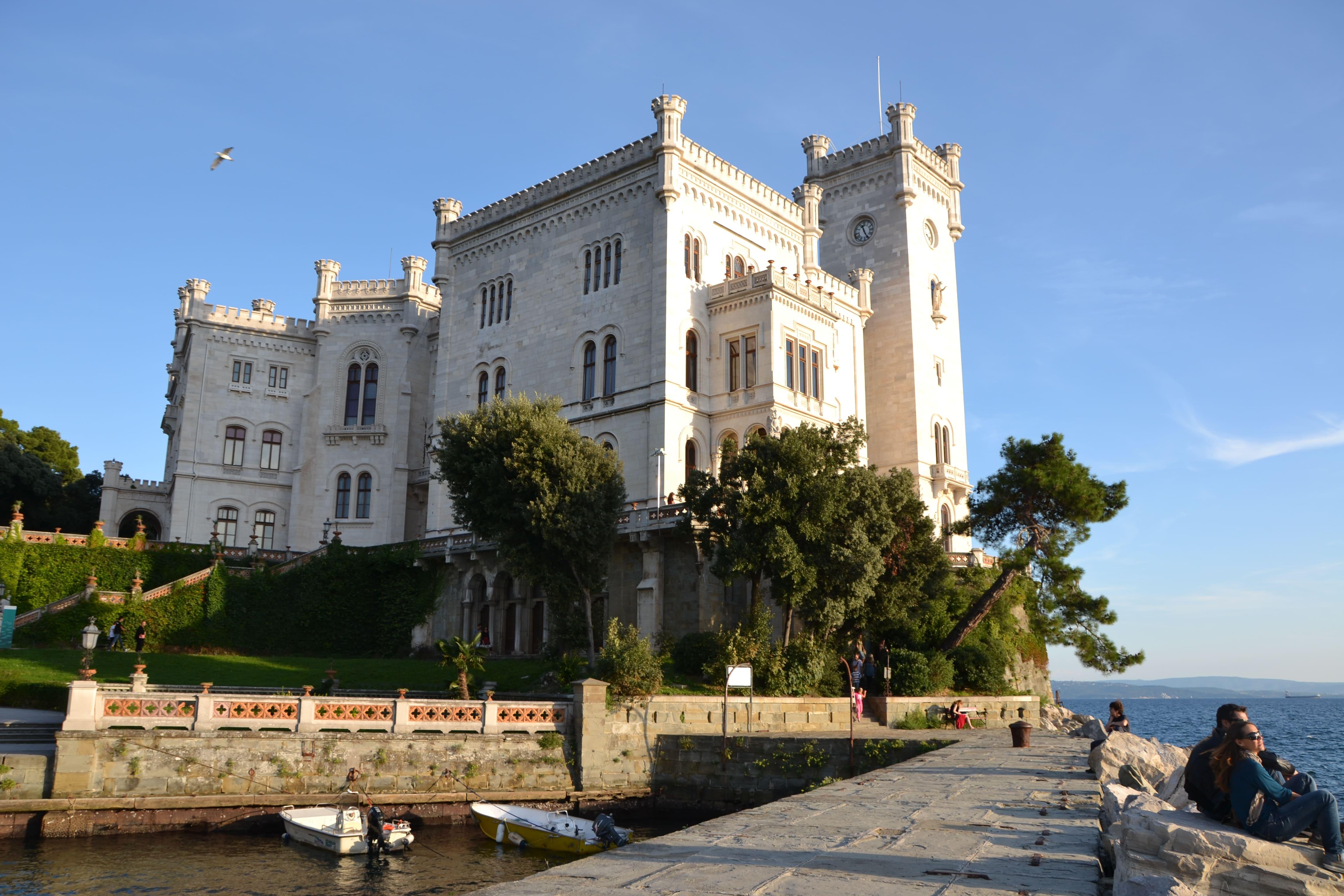 Habsburger Schloss Miramare Auf Der Wanderreise Triest