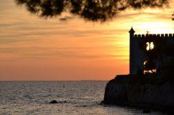 geführte Wanderreise Triest Sonnenuntergang am Golf von Triest