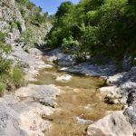 das Flüsschen Rosandra im Val Rosandra bei Triest