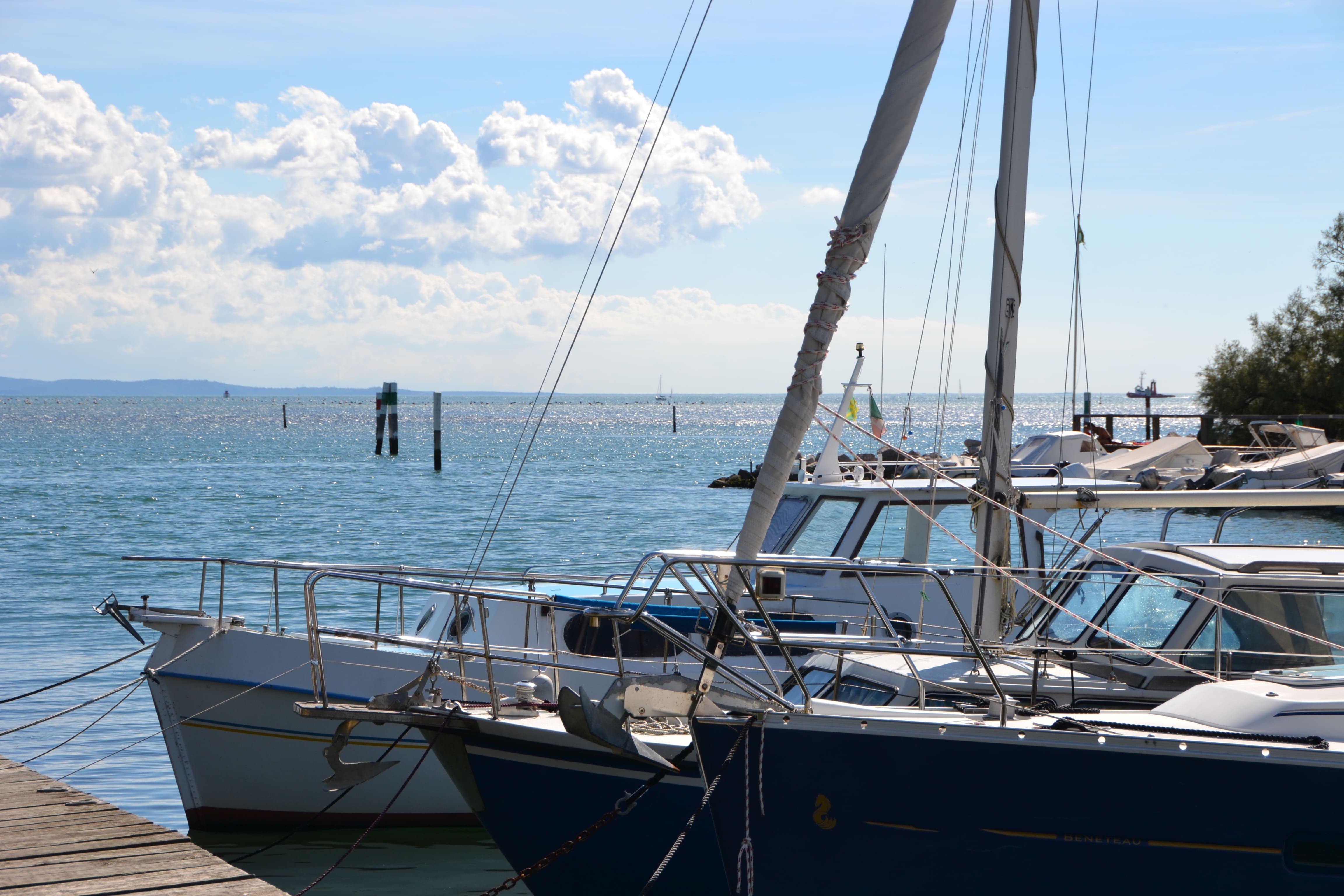 Segelboote In Der Lagune Auf Der Wanderreise Triest