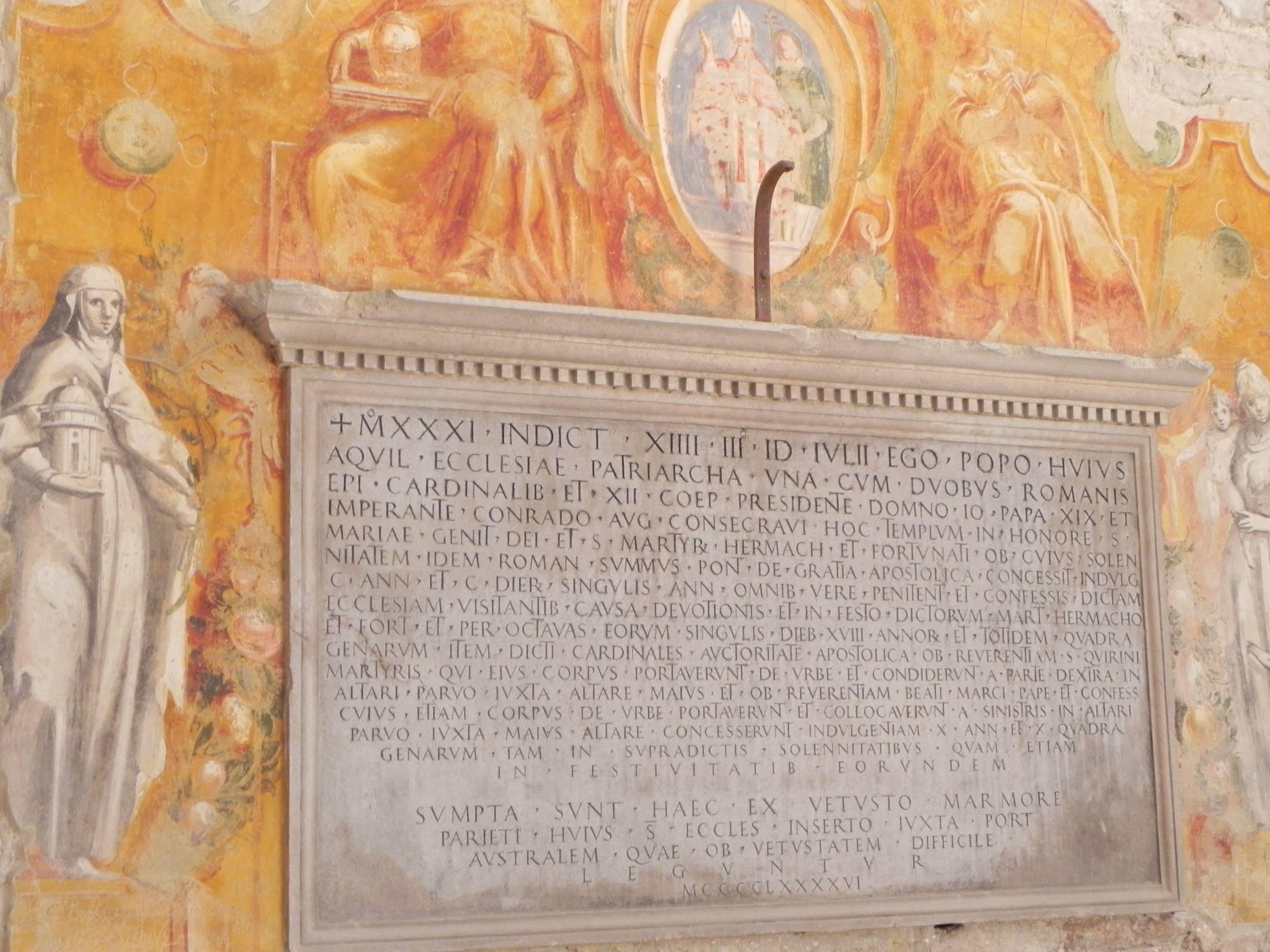 In Der Basilika Von Aquileia