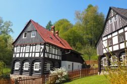 Umgebindehäuser in der Böhmischen Schweiz