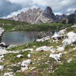 geführte Wanderreise Dolomiten Bergsee an den Drei Zinnen