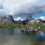 geführte Wanderreise Dolomiten Bergsee