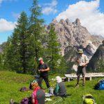 geführte Wanderreise Dolomiten Picknick an alten Stellungen
