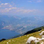 geführte Wanderreise Gardasee Blick vom Monte Altissimo auf das Nordufer