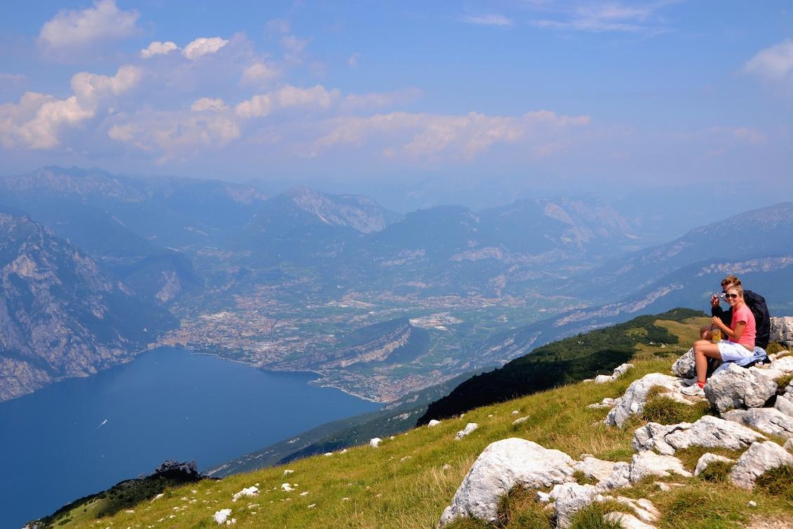 Blick Vom Monte Altissimo Auf Das Nordufer