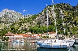 geführte Wanderreise Montenegro Altstadt von Kotor vom Meer