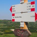 geführte Wanderreise Piemont Wegweiser von Barolo nach Alba