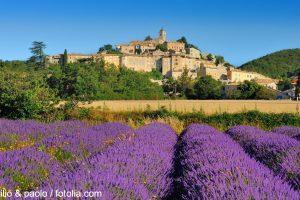 die kleine Stadt Aups in der Provence