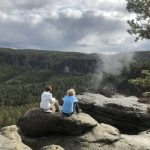 Wanderpause mit Blick in den Großen Zschand