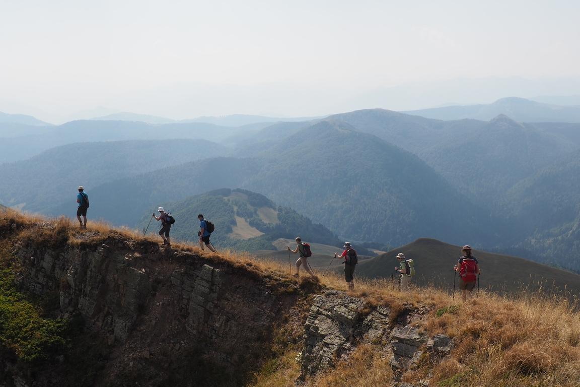 Wandergruppe Im Bjelasica Gebirge