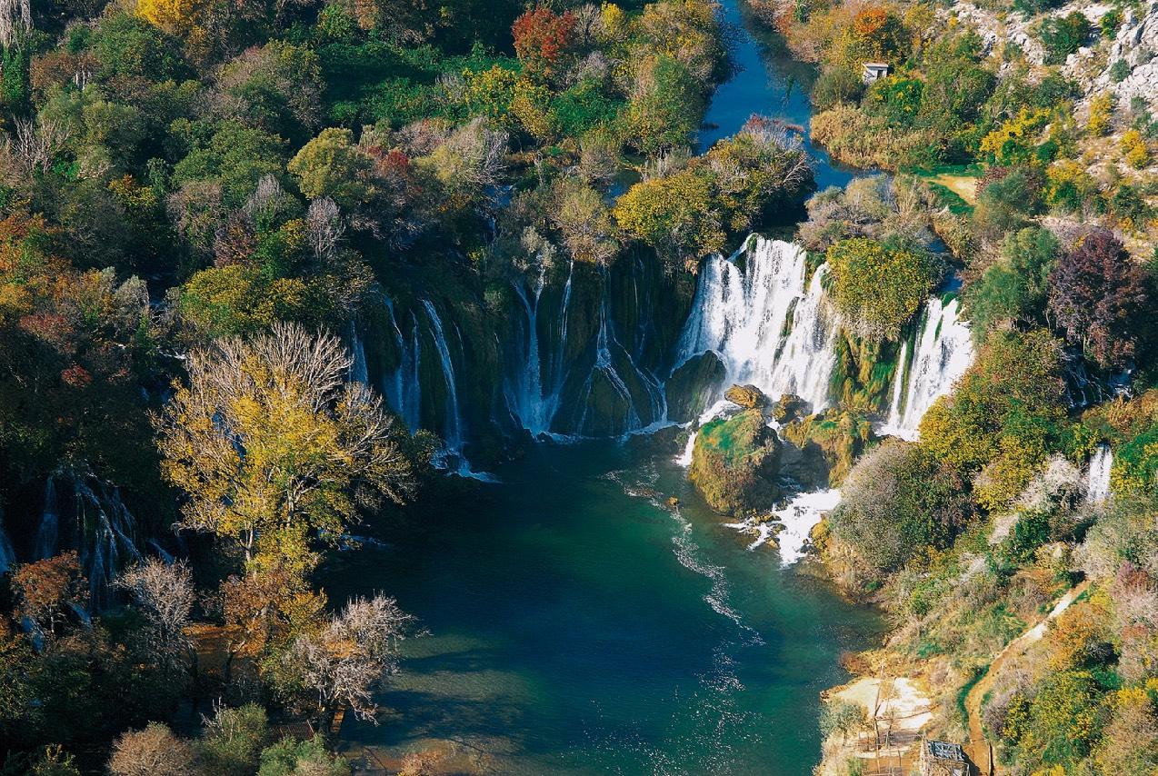Kravica Wasserfall Im Herbst