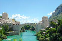 Alte Brücke über die Neretva in Mostar