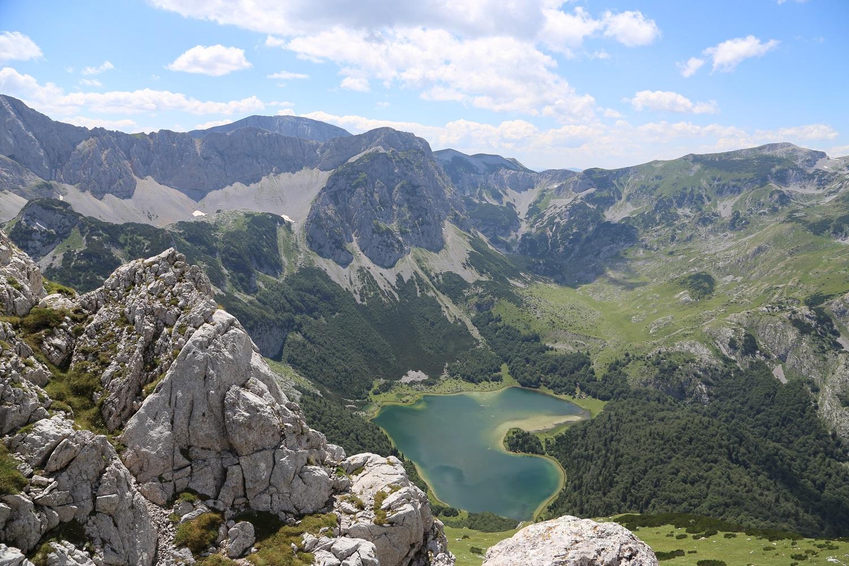 Blick Auf Gletschersee Im Sutjeska Nationalpark
