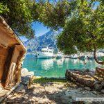 Boote in der Bucht von Kotor