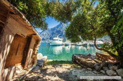geführte Wanderreise Montenegro Boote in der Bucht von Kotor