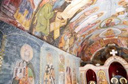 Wandmalerei im orthodoxen Kloster