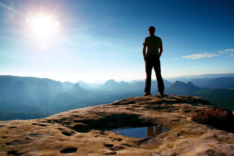 Blick über Das Elbsandsteingebirge
