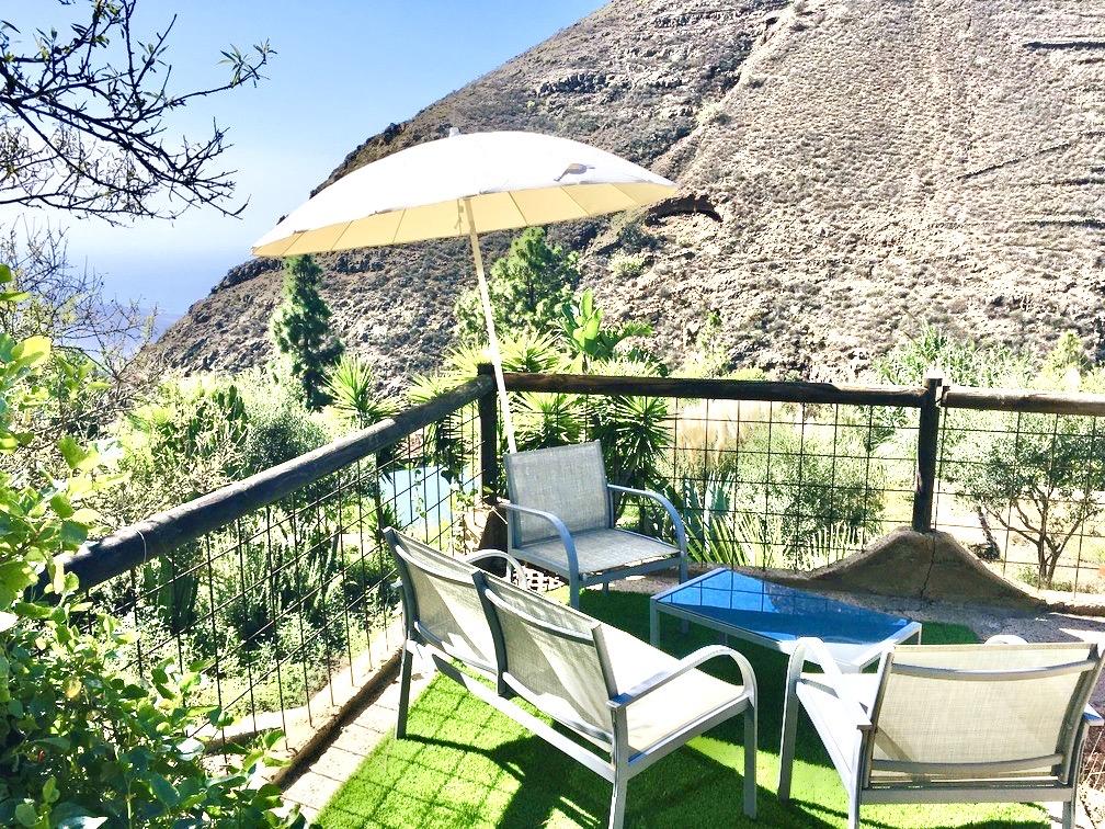 Terrasse Ferienhaus Mit Blick Auf Berge Und Meer