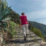geführte Wanderreise Cinque Terre steiler Wanderweg