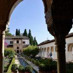 Blick in einen Innenhof der Alhambra