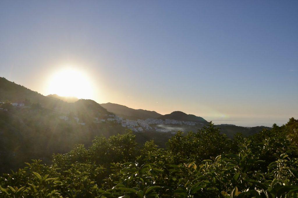 Sonnenuntergang bei Frigiliana