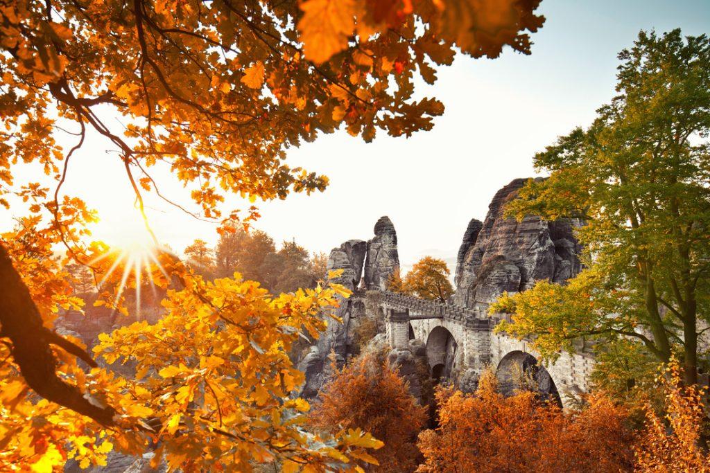 Wanderreise Sächsische Schweiz Bastei im Herbst
