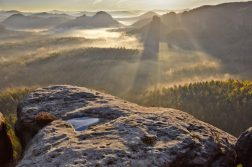 geführte Wanderreise Sächsische Schweiz Sonnenaufgang Kleiner Winterberg