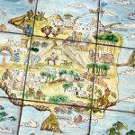 altes Kachelbild der Insel Ischia