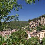geführte Wanderreise Provence Blick auf Cotignac