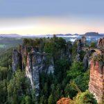 Blick auf die Bastei am Morgen