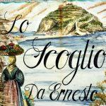 altes Kachelbild mit dem Castello Aragonese