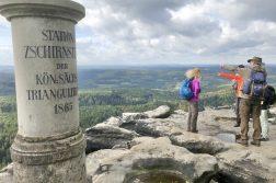 geführte Wanderreise Böhmische Schweiz Blick vom Schneeberg
