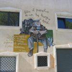 Wandgemälde auf sardischem Haus