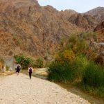 Wanderreise Jordanien Wanderer an einem Flussbett