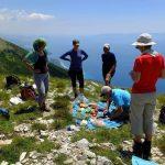 Wanderreise Albanien Picknick mit Blick auf das Meer