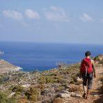 Wanderreise Griechenland Weg zur Lethra Bucht auf Tilos