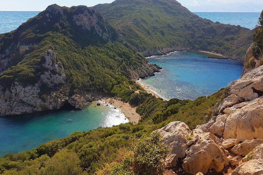 Wanderreise Griechenland Zwillingsbucht auf der Insel Korfu